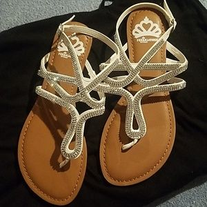 NEW Fergalicious Rhinestone Sandals
